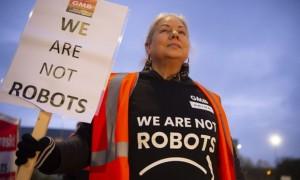 amazon darbuotoju streikas
